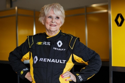 79 year-old rally driver, Rosemary Smith, becomes oldest person to drive a Renault Sport Formula One™ Team car