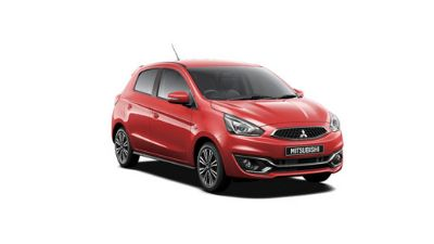 Mitsubishi Mirage Red Metallic